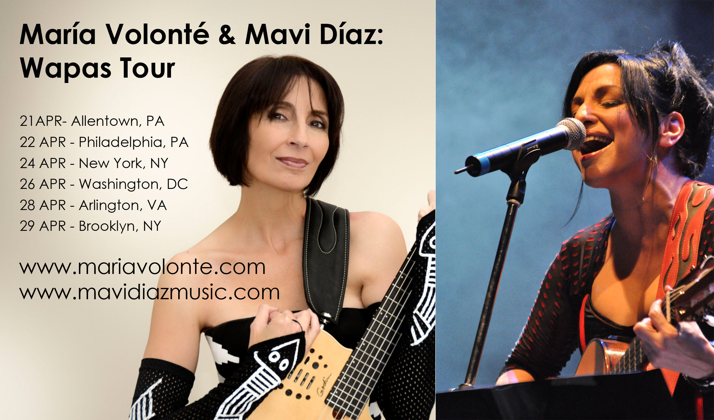María Volonté and Mavi Díaz: Wapas Tour in NYC
