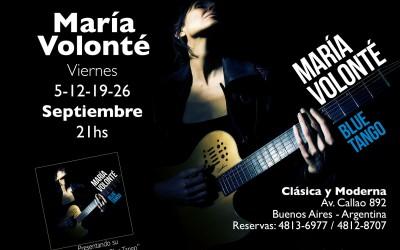 """María Volonté Presenta Su Nuevo CD """"Blue Tango"""""""